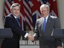 Буш и Браун договорились об усилении санкций против Ирана