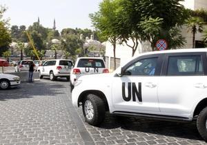 В Дамаске у отеля, где находятся эксперты ООН, разорвались две мины