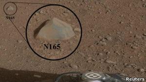 Кьюриосити расплавил первый марсианский камень