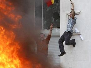 Кишинев: Пожар в здании парламента Молдовы потушен, участники митинга разошлись