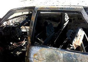В Мукачево загорелся и взорвался автомобиль наблюдателя на парламентских выборах
