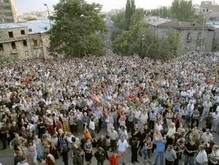 В Ереване начался митинг оппозиции