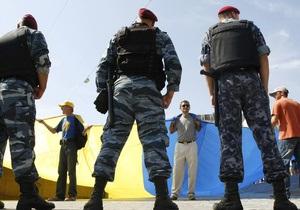 Милиция призвала участников митинга возле ЦИК выполнить решение суда и разойтись