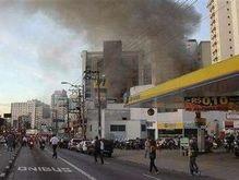 Бразильский телеканал принял пожар в магазине за авиакатастрофу