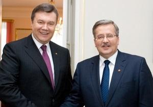 Стала известна дата визита Януковича в Польшу