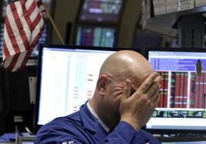 Рынки США значительно снизились из-за долговых проблем