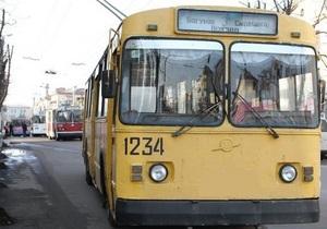 В Житомире трамваи и троллейбусы не вышли на маршруты