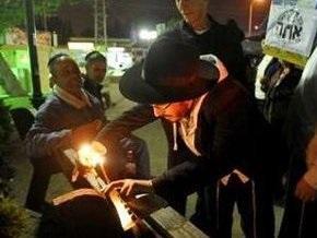 В Брюсселе зажгли первую свечу Хануки