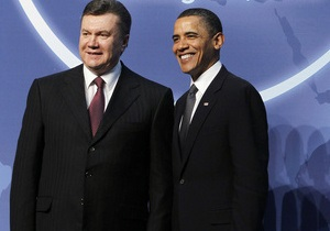 Янукович поздравил Обаму с победой