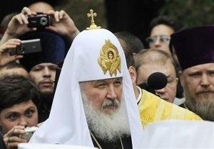 Кирилл провел молебен в Луганске. По данным МВД, патриарха встречали 5 тыс. верующих