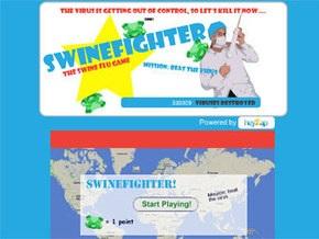 В интернете появилась игра про свиной грипп Swinefighter