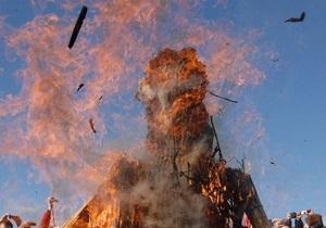 В Симферополе сожгли чучело Саакашвили