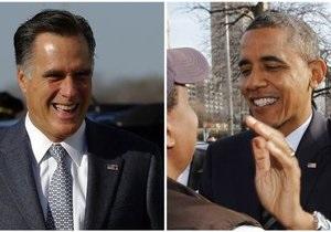 Обама опережает Ромни, получив 268 голосов выборщиков против 203