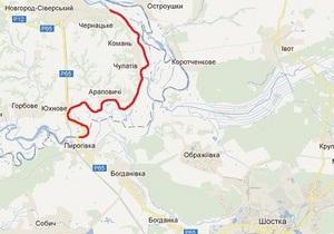 В Черниговской области из-за обледенения снесло понтонный мост через Десну