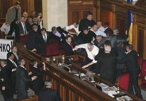 Рада открыла заседание. Оппозиция зажгла свечи и покинула зал