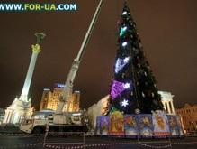 Черновецкий зажег главную украинскую елку