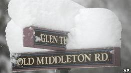 На восток США обрушился мощный снегопад