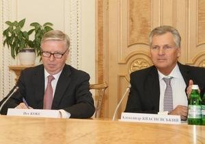 Евронаблюдатели по делу Тимошенко Кокс и Квасьневский прибыли в Украину