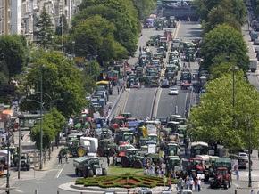 Тракторы заблокировали центр Брюсселя