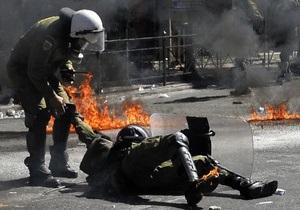 Антиправительственные акции в Греции: в ходе беспорядков задержаны более 100 человек