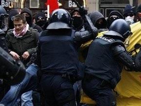 Акция противников Давосского форума: полиции не удается разогнать демонстрантов