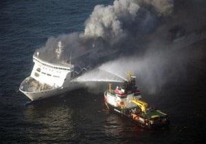 С горящего в Балтийском море парома эвакуировали более двухсот человек