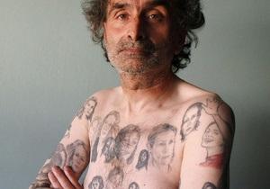 Мексиканец сделал на своем теле 82 татуировки Джулии Робертс