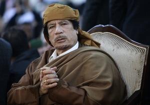 Каддафи обвинил Францию во вмешательстве во внутренние дела Ливии