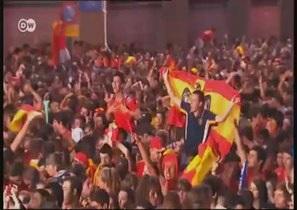 Евро-2012: Испания празднует победу