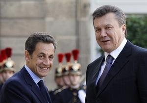 Янукович обсудил с Саркози евроинтеграцию Украины и модернизацию ее ГТС