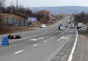 В Ужгороде произошло ДТП с участием авто дочери депутата от Партии регионов: погиб байкер