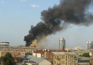 В центре Днепропетровска горит компьютерный клуб