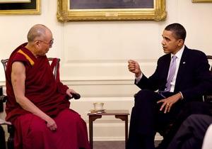 Посол КНР в США заявил протест в связи со встречей Обамы с Далай-ламой