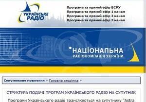 Национальная радиокомпания закрывает Всемирную службу Радио Украина