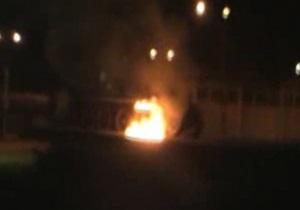 В годовщину УПА в Киеве подожгли советский танк