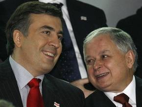 Кортеж Качиньского и Саакашвили обстреляли на границе с Южной Осетией