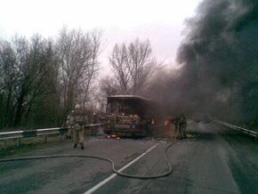 В Донецкой области загорелся автобус: семеро погибших
