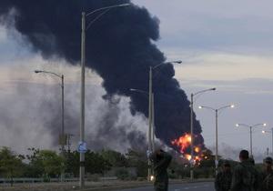 Пожар на НПЗ в Венесуэле: огонь охватил третий нефтяной резервуар