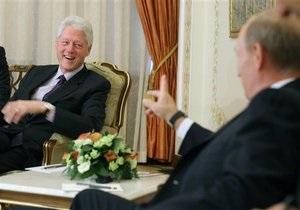 Путин встретился с Биллом Клинтоном: У вас там полиция разгулялась, людей в тюрьмы сажают
