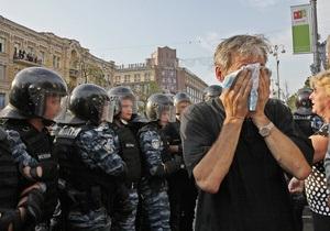 Сторонники Тимошенко покинули ту часть Крещатика, где были снесены палатки