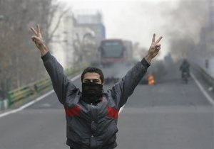 Лидер иранской оппозиции призвал продолжать акции протеста