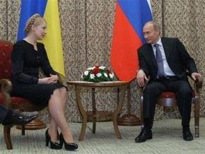 Тимошенко и Путин обсудили график контактов и проект самолета Ан-70
