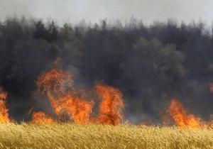 В Ивано-Франковской области горит торфяное месторождение