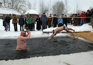 В Киеве крещенские купания пройдут на Оболони, в Гидропарке и Мамаевой слободе
