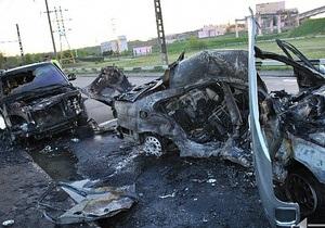 новости Кривого Рога - ДТП - пожар - В Кривом Роге в ДТП дотла сгорели два автомобиля