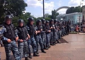 МВД: Слезоточивый газ применили участники акции, бойцы Беркута вынуждены были ответить