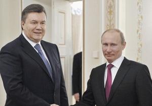 Янукович поздравил Путина с юбилеем