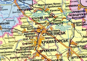 В Славянске Донецкой области одну из улиц залило сточными водами