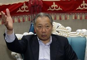 Бакиев покинул территорию Казахстана
