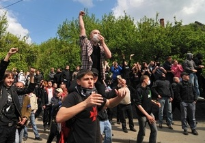 ПР: Оперативная съемка свидетельствует о том, что к акции во Львове готовились заранее